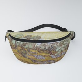 Vincent van Gogh - Olive Trees with Yellow Sky and Sun Fanny Pack