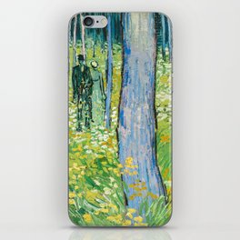 Undergrowth with Two Figures by Vincent van Gogh iPhone Skin
