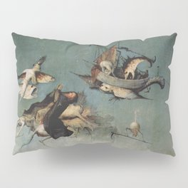 Hieronymus Bosch flying ships and creatures Pillow Sham