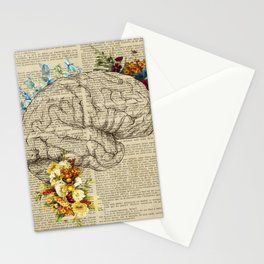 floral brain decor  Stationery Cards