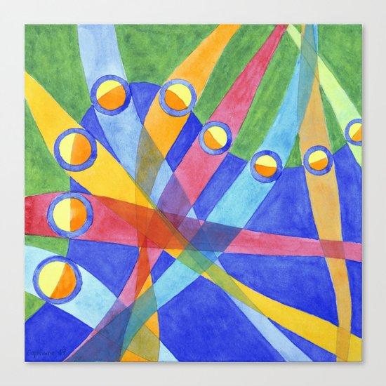 Mingling Colored Stripes Canvas Print