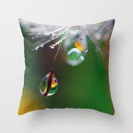 dandy drops 5 Throw Pillow