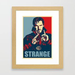 Obey Strange doctor Framed Art Print