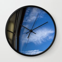 blue view Wall Clock
