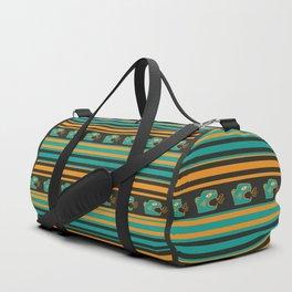 Aztec Mexican Mythological Jaguar Pattern Duffle Bag