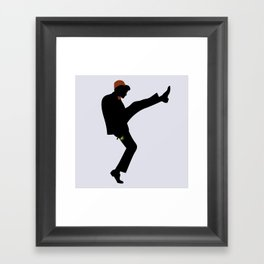 The 11th Doctor of Silly Walks Framed Art Print
