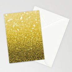 Pure Gold Powder texture Stationery Cards