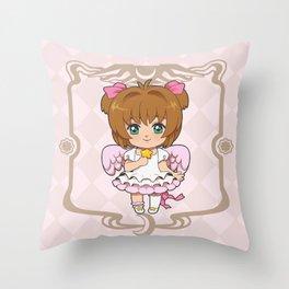 Sakura Kinomoto - Platinum Throw Pillow