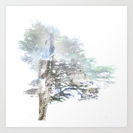 Where the sea sings to the trees - 5 Art Print
