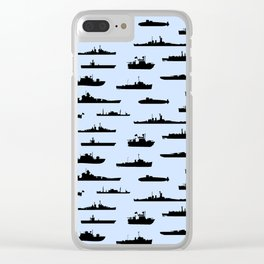 Battleship // Light Blue Clear iPhone Case