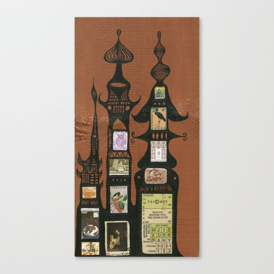 I Love You, Hundertwasser #1 Canvas Print