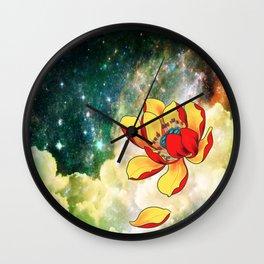 Galaxy Lotus Wall Clock
