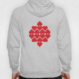 valentine repeating hearts pattern Hoody