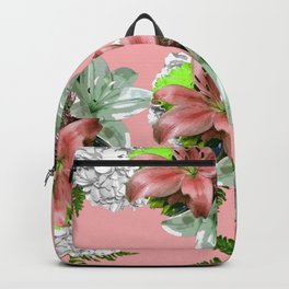 LILY PINK AND WHITE FLOWER Backpack
