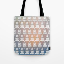 Geometric Christmas Trees 6 Tote Bag