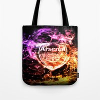 arsenal Tote Bags featuring ARSENAL by Acus