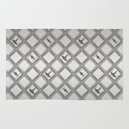 X Wing TIE Fighter Pattern Rug