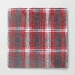 Texture #19 Plaid fabric. Metal Print