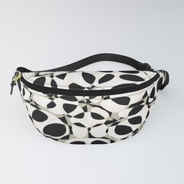 black and white circles in squares Fanny Pack