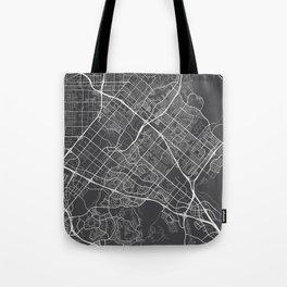 Irvine Map, USA - Gray Tote Bag