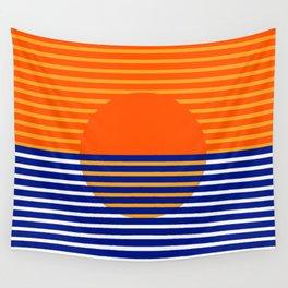 Orange Split Sun Wall Tapestry
