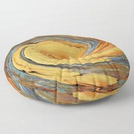 Swirl 03 - Colors of Rust / RostArt Floor Pillow