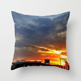 Kauffman Stadium at Sunset Throw Pillow