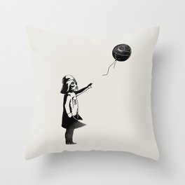 Let go the dark side Throw Pillow