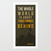 actor Art Prints featuring movie actor quote by Larsson Stevensem