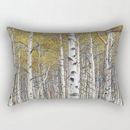 Birch Trees in Autumn Rectangular Pillow