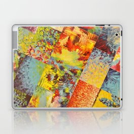 COLORFUL INDECISION 3 - Wild Vivid Rainbow Abstract Acrylic Painting Mixed Pattern Pretty Art Gift  Laptop & iPad Skin