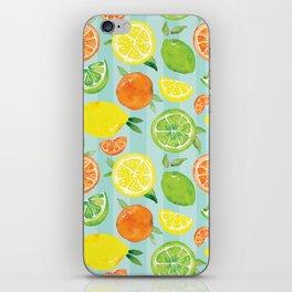 Zesty Citrus Pattern iPhone Skin