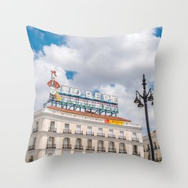 Puerta del Sol, Madrid Throw Pillow