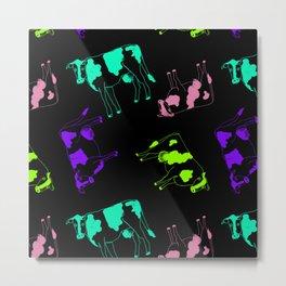 Watercolour Cow Metal Print