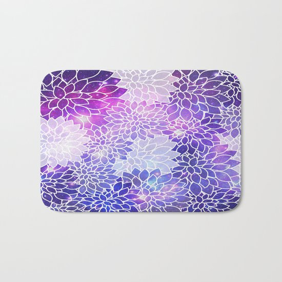 Space Dahlias  Bath Mat