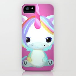 Chibi Unicorn (Dark Pink) iPhone Case