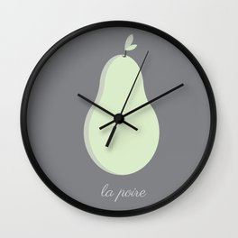 La Poire Wall Clock