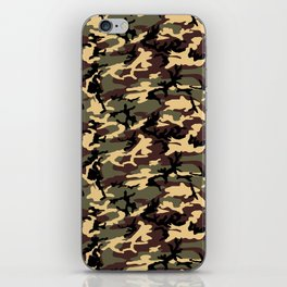 Green Brown Camouflage Pattern iPhone Skin