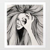 leo Art Prints featuring Leo by Hanna Viktorsson