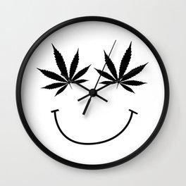 get high on life,natiural herb,Marijuana Botanical , Marijuana Botanical  Wall Clock
