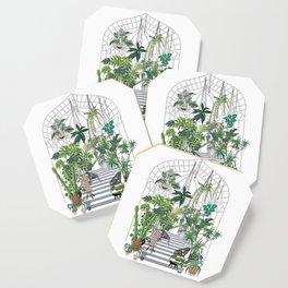 greenhouse illustration Coaster
