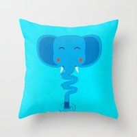 Elefun Throw Pillow