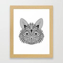 Foxy Fox Dark Framed Art Print