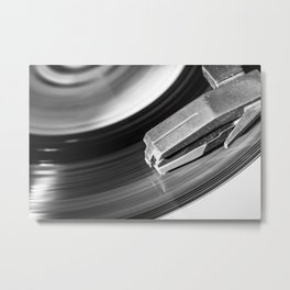 Music From a Vintage 45 RPM Record Playing on a Turntable 4 Metal Print