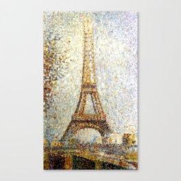 Georges Seurat Eiffel Tower Pointillism Canvas Print