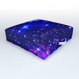 Fox Fur Nebula Galaxy blue purple Outdoor Floor Cushion