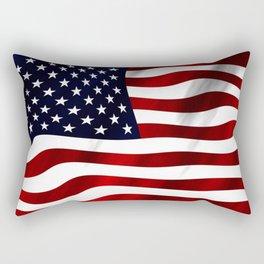 American Flag USA Rectangular Pillow