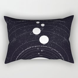 Stellarum Ordo Solaris: A map of our Solar system Rectangular Pillow