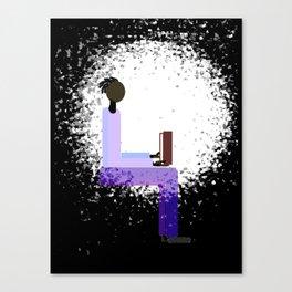 Reading by Window Light Canvas Print