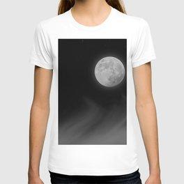 Moon Sky // La Luna in the Dark Night Clouds Stars Full Glowing Dream Like Fantasy T-shirt